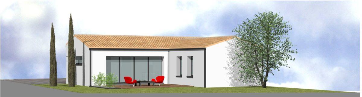 Maison neuve - 3D - SAINT GEORGES DE MONTAIGU- 85 Vendée