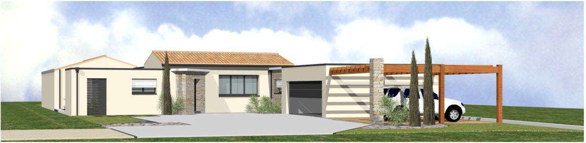 Maison neuve - 3D - Montaigu - 85 Vendée